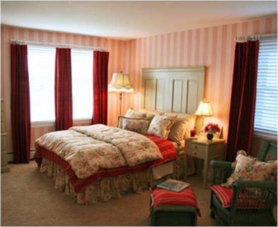 Lacks Bedroom Furniture Before: Master bedroom lacks romance, intimacy and privacy.
