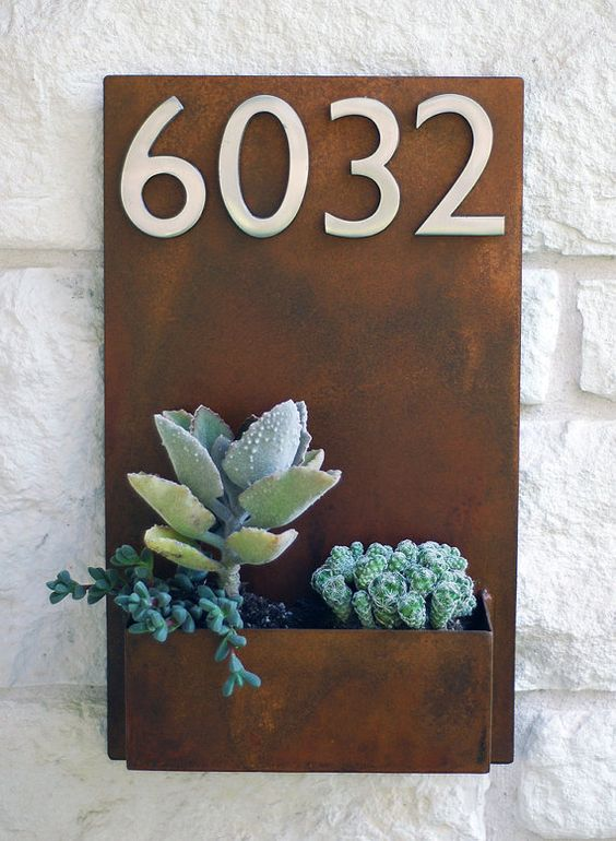 Click to pin - House Numbers + Planter