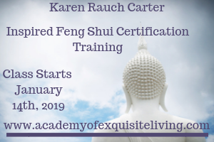 Karen Rauch Carter Inspired Feng Shui Certification January 2019