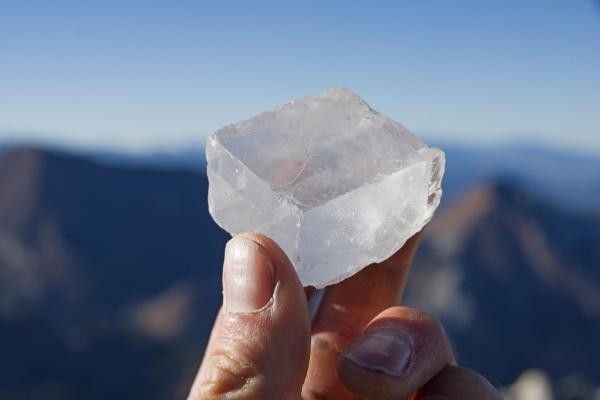 White Calcite crystals